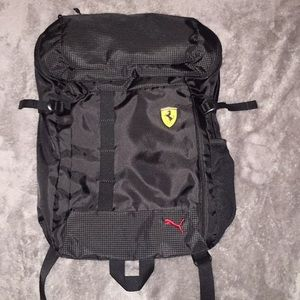 Puma Ferrari black and red bookbag